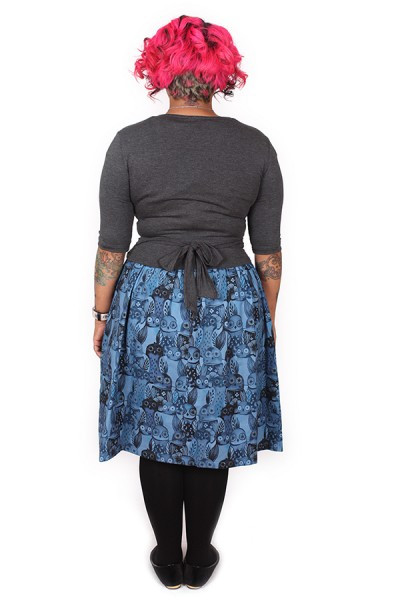 Every Body Ballet Wrap Charcoal - LUCKT LAST SIZE LEFT - SIZE 4