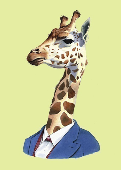 Ryan Berkley Giraffe Framed Print