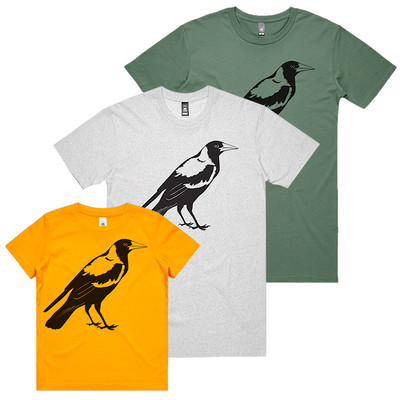 Magpie White Marle Mens T.