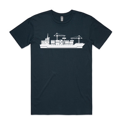 Cargo Ship Indigo Mens T.