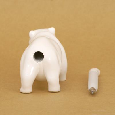 Plastic Bear Pen White