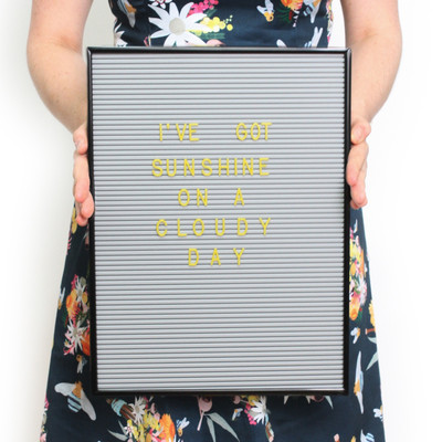 OMM Design - Grey & Black Letter Board