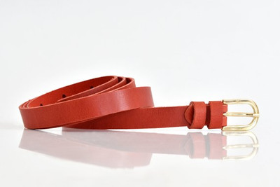 Leather Belt Red.