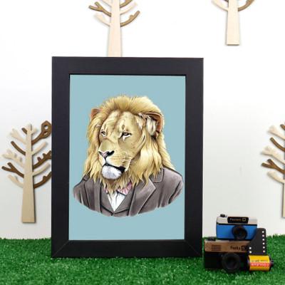 Ryan Berkley Lion Framed Print