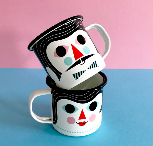 Enamel Couples Mug