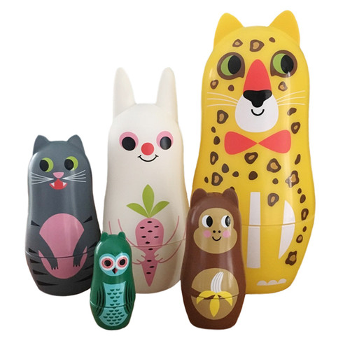 Nesting Dolls with ears.