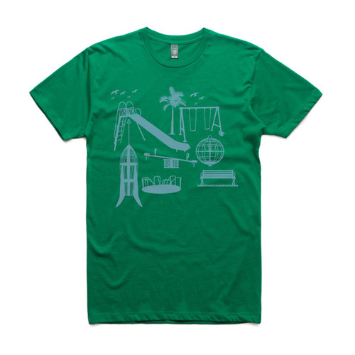Parklife Green Mens T