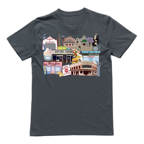 Inner West Icons Coal Mens T