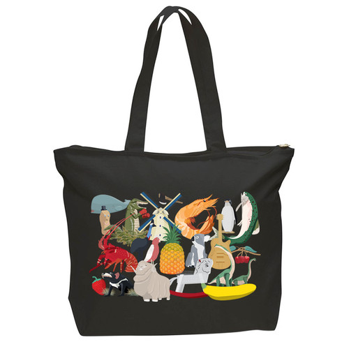 Big Aussie Road Trip Tote Black.
