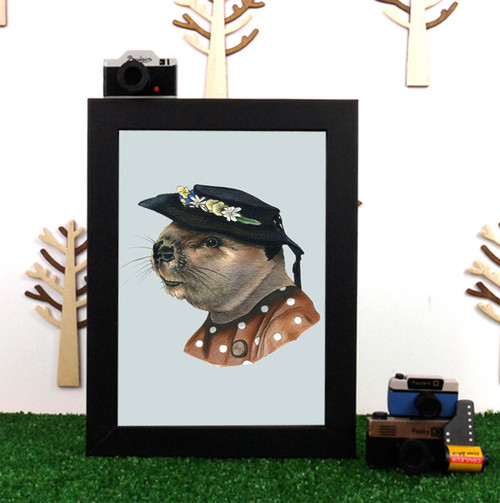 Ryan Berkley Lady Beaver Framed Print