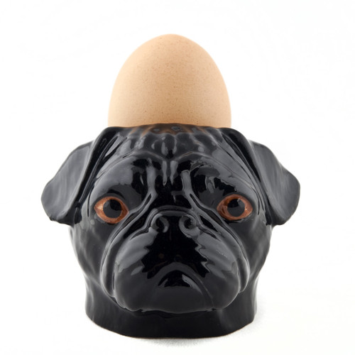 Pug Face Egg Cup Black.