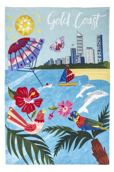 Gold Coast Tea Towel