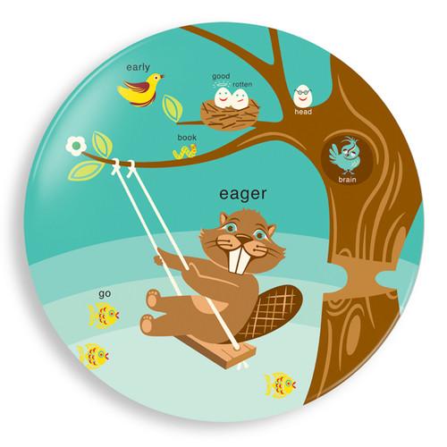 Eager Beaver Season Plate - Jane Jenni