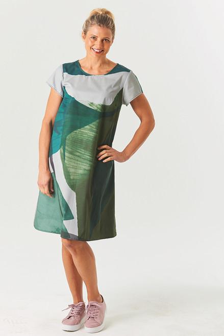 Olivette Dress Giant Floral Grn