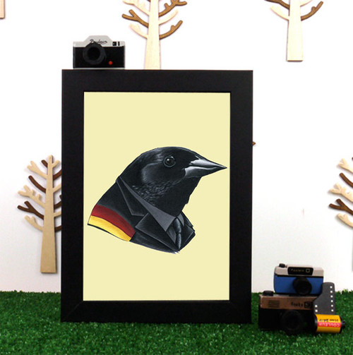 Ryan Berkley Red-Winged Blackbird Framed Print