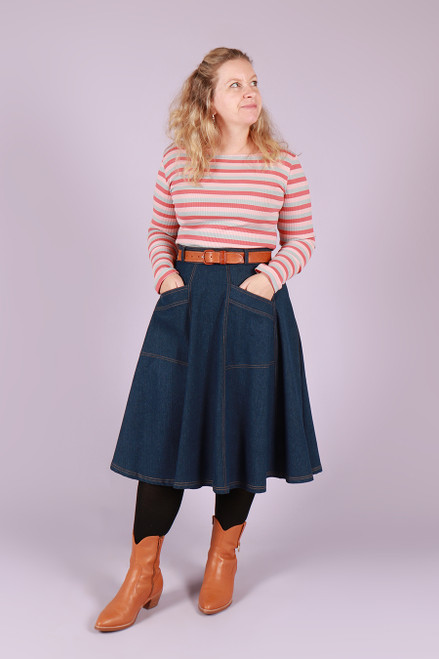 Paige Skirt 70s Denim