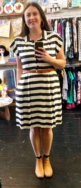 Every Body Trixie Dress Beetlejuice Stripe