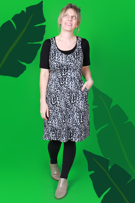 Piper Pinafore Snow Leopard