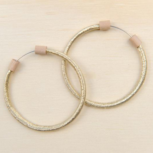 Hoop Earring Metallic Gold