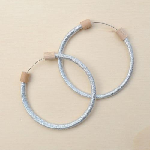 Hoop Earring Metallic Silver