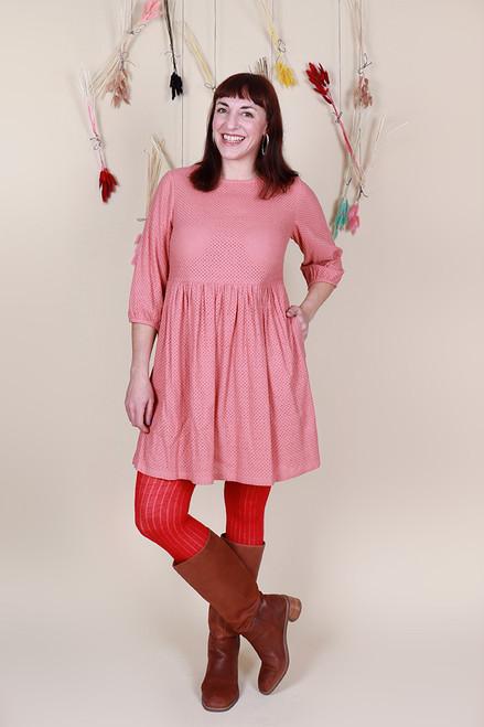 Edie Dress Winter Broidery Melon