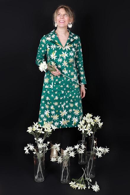 Maggie Dress Flannel Flowers