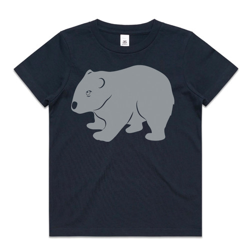 Wombat Navy Kids T