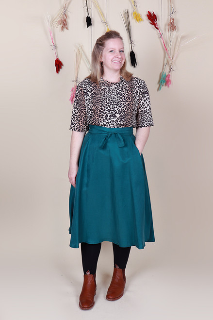Valentina Skirt Midi Jungle