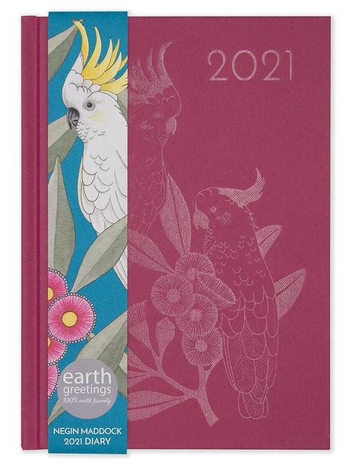 2021 Negin Maddock Diary - Pink Gumflower