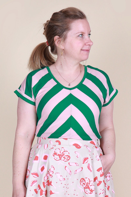 Ripley Reversible Top Watermelon Stripe