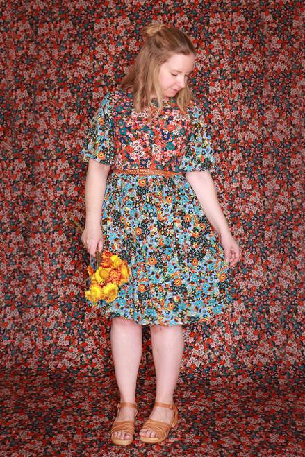 Evelyn Dress Primrose Floral Splice