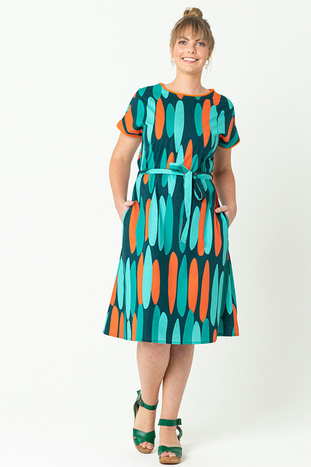 Biba Dress Drops Orange
