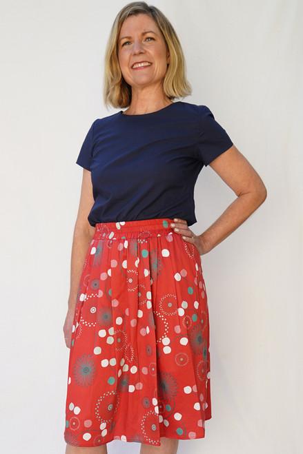 Polly Skirt Pinwheel Red