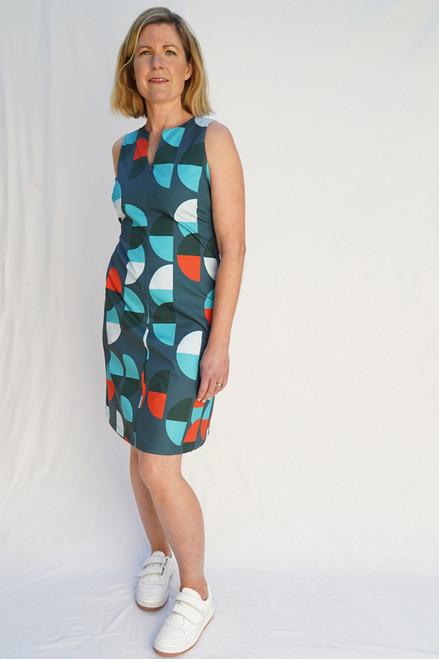 Tunic Dress Large Semi Blue