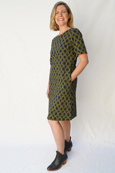 Grace Dress Hinter Ink Grn