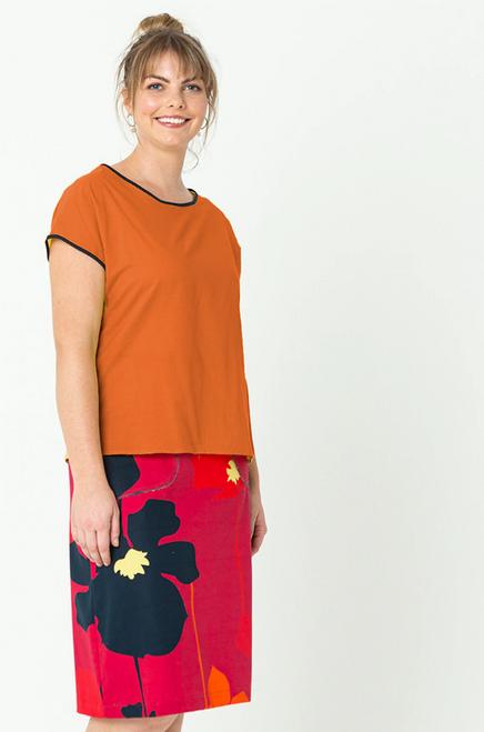 Tilly Top Plain Orange