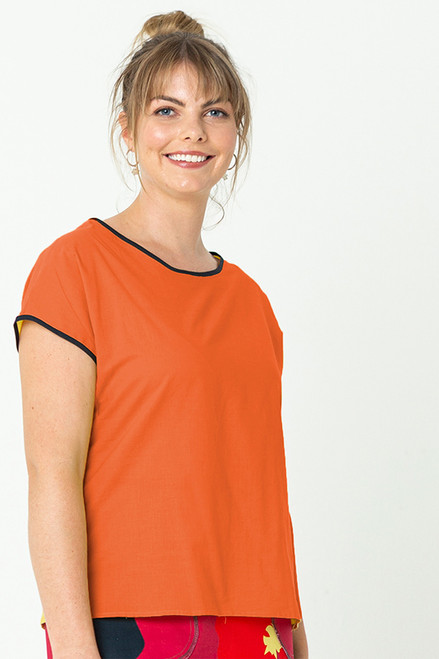 Tilly Top Plain Orange