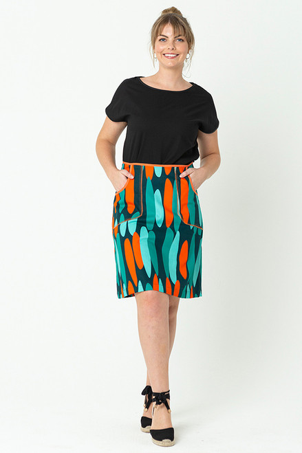 Avril Skirt Short Drops Orange