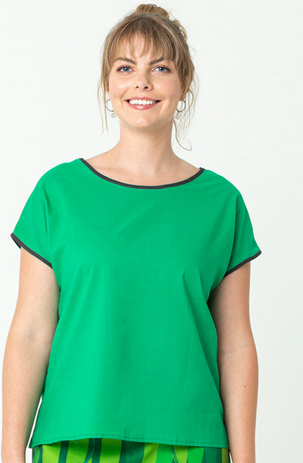 Tilly Top Plain Emerald
