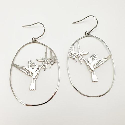 Hummingbird Dangles in Silver