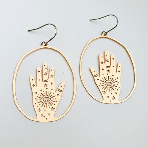 Magic Hand Dangles in Rose Gold