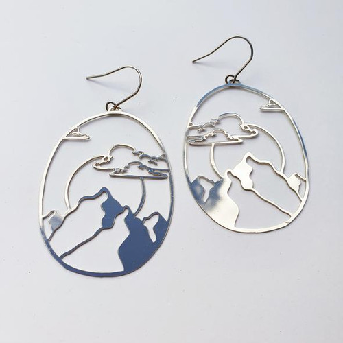 Moon Moutain Dangles in Silver