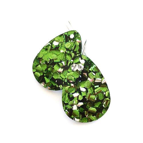 Baby Drop Earrings Green