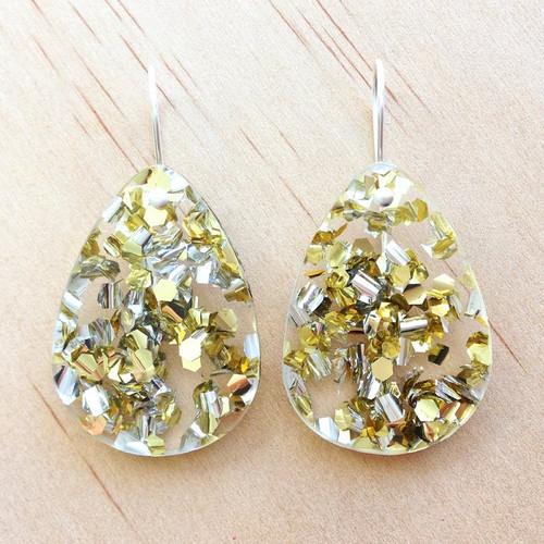 Classic Glitter Drops Gold