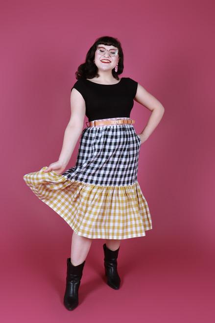 Rayna Skirt Long Picnic Gingham