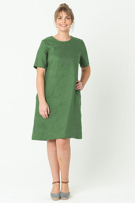 Grace Dress Linen Olive