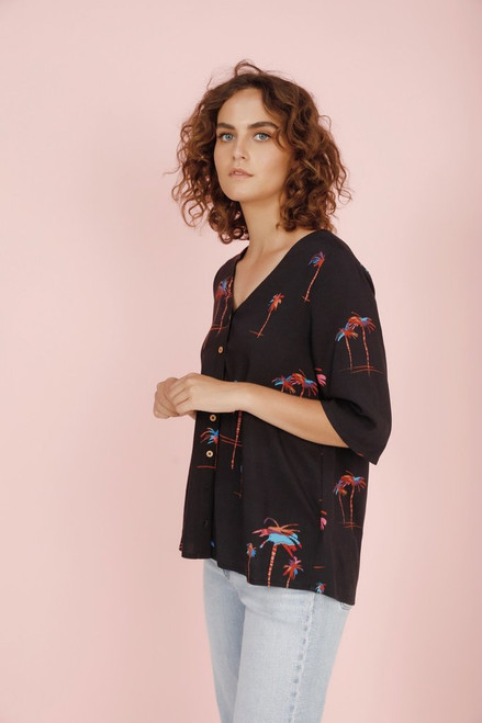 PalmARama Kimono Top C