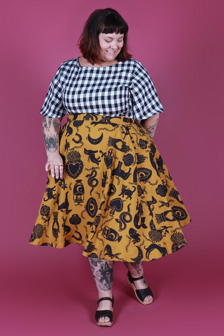 Valentina Skirt Charmed Mustard