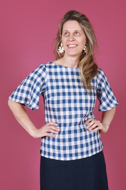 Evelyn Top Picnic Gingham Blue