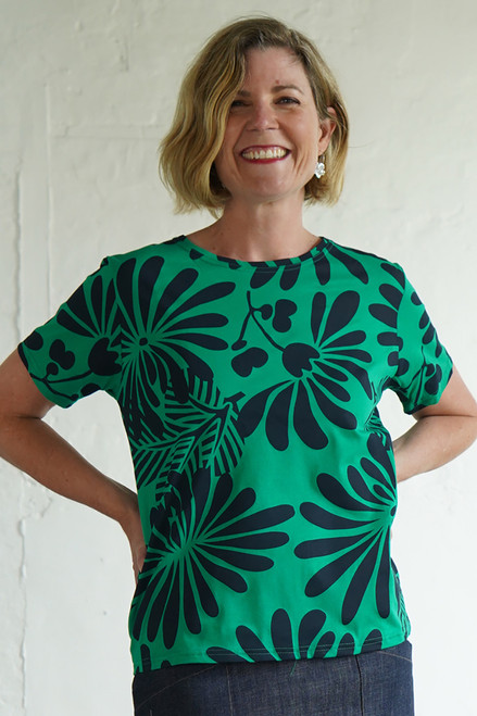BF Tee Japanese Floral Green